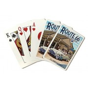 Claremont, California Route 66 Service Station (Playing Card Deck 52 Card Poker Size With Jokers)
