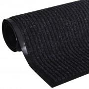 vidaXL Изтривалка за входна врата от PVC, черна, 180 х 240 см