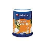DVD-R VERBATIM 4.7GB 16X BLANCO INK PRINTABLE SPINDLE C/100