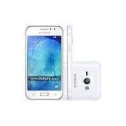 Smartphone Samsung Galaxy J1 Ace Duos Dual Chip Desbloqueado Android 4.4 Tela 4.3 4GB 3G Câmera 5MP- Branco