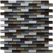 Maxwhite JSM-JS101 Mozaika skleněná kamenná hnědá okrová béžová 30x30cm