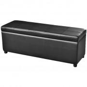 vidaXL Dlouhá lavice s úložným prostorem dřevěná černá
