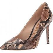 Sam Edelman Hazel Zapatos de tacón para Mujer, Piel con Estampado de Serpiente Tropical de Avellana, 6.5 Wide