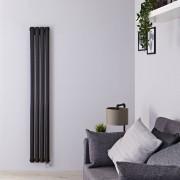 Hudson Reed Radiateur design électrique vertical - Noir – 160 cm x 23,6 cm x 7,8 cm - Vitality