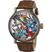 Marvel white4707 Marvel Men's W001759 The Avengers Captain America Analog-Quartz Brown Watch Watch - For Men