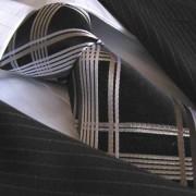 Distino Of Melbourne The Black Steel Seven Fold Silk Necktie SF9