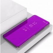 Xiaomi Plating spiegel links en rechts Flip cover met beugel holster voor Xiaomi CC9e/a3 (paars)