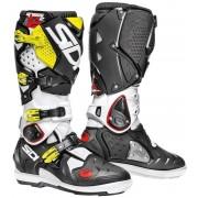 Sidi Crossfire 2 SRS Motocross Boots Motokrosové boty 40 Černá Bílá žlutá