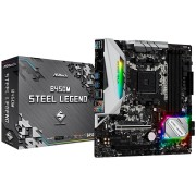 MB, ASRock B450M STEEL LEGEND /AMD B450/ DDR4/ AM4 (90-MXB9Y0-A0UAYZ)