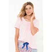 Mia Lucce Pintucked Tee - Pink - Womens T-Shirt Sleepwear Nightwear