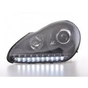 FK-Automotive fari Daylight allo xeno a LED con DRL look Porsche Cayenne anno di costr. 03-07 neri