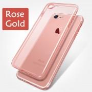 Luxury Crystal átlátszó, puha szilikon iPhone tok - Halvány rózsaszín, 6+/6s+/7+/8+