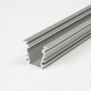 Alumínium U profil LED szalaghoz , 2 méteres szálban , TEJFEHÉR fedővel , süllyeszthető , DEEP-S