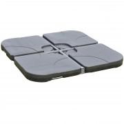 Sonnenschirmständer HWC-C82, Ampelschirmständer Marktschirmständer für Bodenkreuz, befüllbar 100kg ~ Variantenangebot