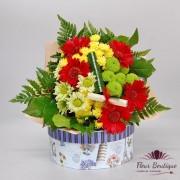 Buchet crizanteme si germini BF078