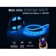 Bandeau LED Wifi 5m RGB IP20 12v