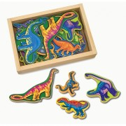 Melissa Doug dinozauri din lemn cu magneti