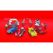 2014 The New Shell V-power Lego Collection Ferrari F138, F12 Berlinetta, 250 GTO, 512 S, Finish Line