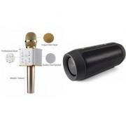 Zemini Q7 Microphone and Charge 2 Bluetooth Speaker for PANASONIC ELUGA U2(Q7 Mic and Karoke with bluetooth speaker | Charge 2 Plus Bluetooth Speaker )