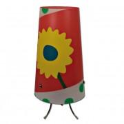 Max FC048-B11 Stolní lampa dětská červená - barevné kytičky