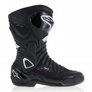 alpinestars Motorradstiefel lang Motorradschuhe Alpinestars Stella SMX 6 V2 Drystar Damen Stiefel schwarz/we schwarz