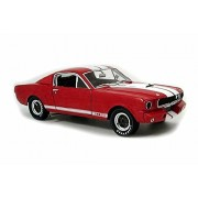 1966 Ford Shelby GT 350, Red w/ White - Shelby Collectibles SC154R - 1/18 Scale Diecast Model Toy Car