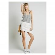 Falda Cruzada De Punto Para Mujer-Blanco