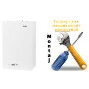 Pachet centrala termica conventionala Motan Sigma 24 tiraj natural - 24 KW cu manopera montaj si autorizare ISCIR