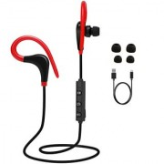DSS Smart Sports Wireless Bluetooth Earphone with superb stereo sound and Hands Free Mic (Red)