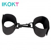 IKOKY Restraint Ribbon Nylon Hands Cuffs Fixed Hand Handcuffs 1 Pair Adult Product Sex Toys for Couples Sexy SM Bondage Fetish