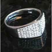 Stříbrný prsten kroužek SW