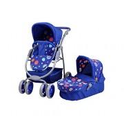 Knorrtoys Knorr Toys Knorr90712 Combi Coco Blue Splash Doll Pram and Buggy