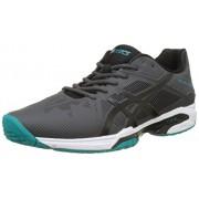 ASICS Men's Gel-Solution Speed 3 Dark Grey/Black/Lapis Tennis Shoes - 10 UK/India (45 EU)(11 US)