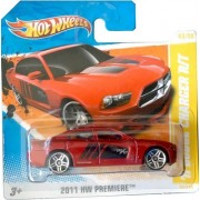2011 Hot Wheels '11 DODGE CHARGER R/T (Red) #43/244, 2011 HW Premiere #43/50 (SHORT CARD)