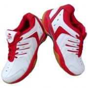 Port Unisex Red Mizuno Pu badminton Shoes (11 UK/IND)