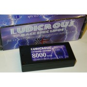 Ludicrous LUD8K1S150C01 Lipo - 8000mah 1S - 3.7V -150C - 4mm conns - Extreme Edition - Hard Cas
