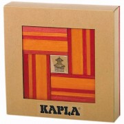 Kapla 40 Piece Wooden Plank Set Red and Orange KAPL172106