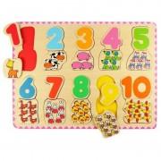 Puzzle numere si culori BigJigs