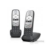 Telefon GIGASET ECO DECT, A415 DUO, negru