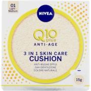 Nivea q10 plus anti-age 3 in 1 skin care cushion 01 light medium 15 gr