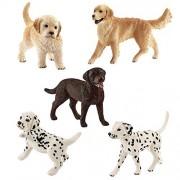 Schleich Dogs and Puppies - Labrador Retriever Golden Retriever Dalmatian by SuePerior Living
