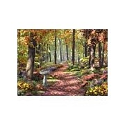 Bits and Pieces - 1000 Piece Jigsaw Puzzle - The Path In the Forest Autumn Nature - by Artist Alan Giana - 1000 pc Jigsaw