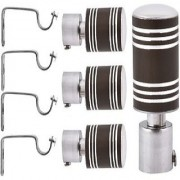 Home Dcor chrome finished metal Curtain Bracket Set Of 4 with support (Elegant look with strong material)