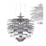 Lámpara artic 48 cms de diámetro fabricada en aluminio de color plat