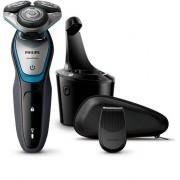 Aparat de barbierit Philips AquaTouch S5400/26, Fara fir, Wet And Dry, Negru/Albastru