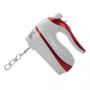 Миксер Zephyr ZP 1110 D, 500 W, 5 степени на работа, с турбо, бъркалки за тесто, бял/червен