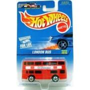 LONDON BUS Hot Wheels #613 Red Double Decker London Bus 1:64 Scale Collectible Die Cast Car