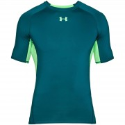 Under Armour Men's HG Armour T-Shirt - Green - L - Green