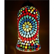 Susajjit Classy look ceiling pandent multicolor lamp with designer mosaic work