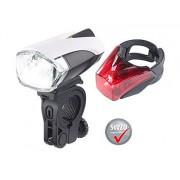 Set: LED-Fahrradlampe FL-211 & Rücklicht mit Akku, StVZO   Fahrradlicht